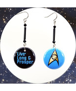 Live Long and Prosper Star Trek TOS Hooks, Posts, Lever backs, Clip Ons ... - $8.50