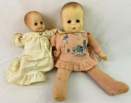 Effanbee Doll Lot of 2 Baby Dolls 1964 1968 Clothing - $29.69