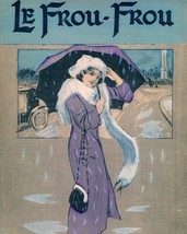 Le Frou Frou: Girl w/Umbrella in Rain - 1912 - $12.82+
