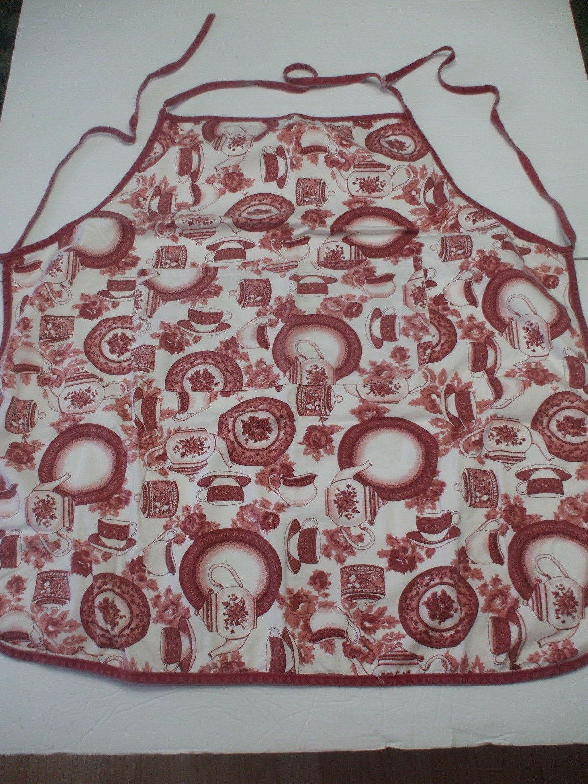Kitchen Apron 100% Cotton Pink And Burgundy
