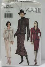 Vogue Sewing Pattern 7151 Misses Jacket Skirt Size 8 10 12 - $16.44