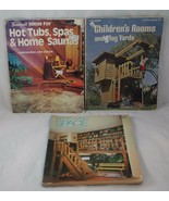 Woodworking Books, Hot Tubs Spas Saunas Play Yards, Interiors (THREE) - $15.83