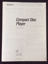 Sony Compact Disc Player CDP-C625 & C525 Operating Instructions Original... - $9.89