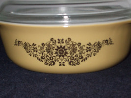 Vintage Pyrex #043 Golden Rose Covered Casserole - $25.00