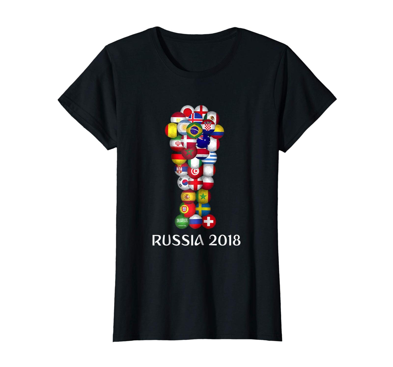 Dad Shirts - Russia World Football 2018 All 32 Teams Soccer Gift Tshirt Wowen