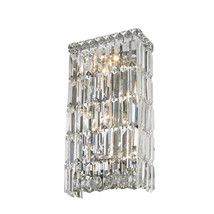 "4-Light Chrome Finish W 8"" x H 16"" Apollo Crystal Wall Sconce Bathroom L... - $185.33"