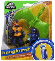 Imaginext Jurassic World Fallen Kingdom, Park Workers & Pterodactyl - $11.99