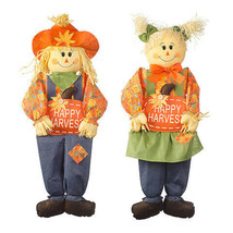 Darice Harvest Sitting Scarecrow Decoration: 12 x 36 inches, 2 Assorted ... - $16.99