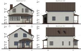 House plan, gable roof, PDF, Area: 152.56m. - $18.80