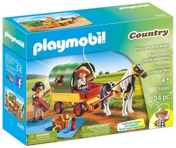 PLAYMOBIL Picnic with Pony Wagon - $18.37