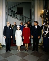 President John F. Kennedy and Jackie with Finland leader New 8x10 Photo - $6.16