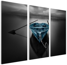 """Pingo World 1221P81NP1G """"Moises Levy Bote Fugado Dark"""" Gallery Wrapped Triptych  - $128.65"""
