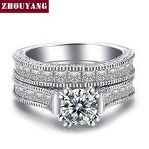 ZHOUYANG 2017 Recommended Luxury Cubic Zirconia Bijoux Fashion Wedding R... - $13.84