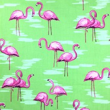 Tropical Pink Flamingos Quilting Fabric by Fabric Traditions Pink Birds ... - $4.50