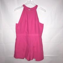J.O.A. LOS ANGELES Pink Halter Romper - Open Back Large - $35.99