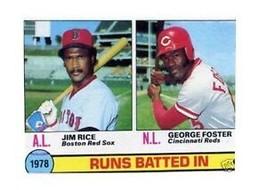 1979 Topps George Foster/ Jim Rice #3 Baseball Card - $1.83
