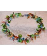 Antique Vintage Handblown Handwired Murano Multi Color Glass Bead Necklace - $989.98