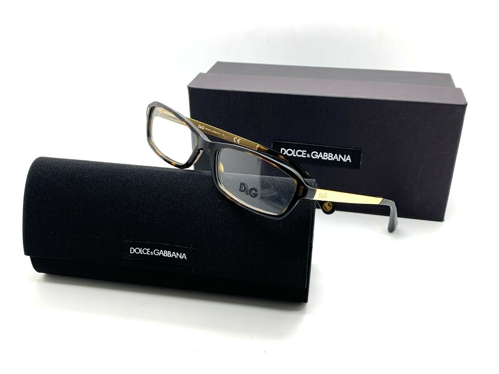 7589fdae25fb New Authentic Dolce & Gabbana 1217 502 Havana/Gold 51mm Eyeglasses Frames  RX - $67.87
