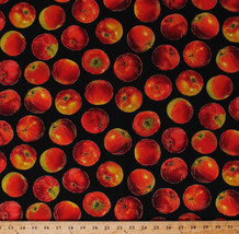 Red Apples Fruit Food Autumn Kitchen Country Cotton Fabric Print BTY D36... - $11.95