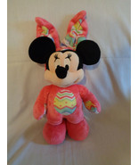 Disney Store Genuine Minnie Mouse Hot Pink Easter Bunny Outfit Beanbag P... - $11.83