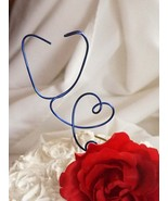 Stethoscope Heart CakeTopper For Doctor Graduation Party Decor - $29.50