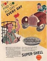 Orig. Vintage Magazine Ad: 1937 Shell Gas Ad - $13.00