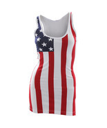 USA American Flag Tank Top Patriotic Women's Stars And Stripes S-XL - £12.04 GBP