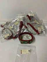 Lot of 35 Longaberger 2004 Holiday Helper Basket American Holly Fabric L... - $72.57