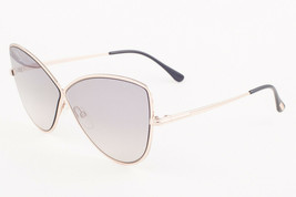 Tom Ford ELISE 02 Shiny Rose Gold / Gray Gradient Sunglasses TF569 28C 5... - $224.42