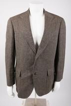 Brooks Brothers Men's Border Tweed Blazer Sports Jacket 43 R Brown Wool ... - $69.29