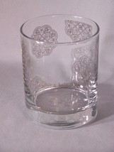 "Vera Wang elegantly decorated glass approx. 3.5"" tall - $5.10"