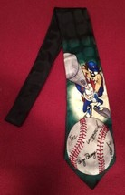 Looney Tunes Mania Vintage 100% Silk Tie TAZ Tasmanian Devil Baseball  - $15.67