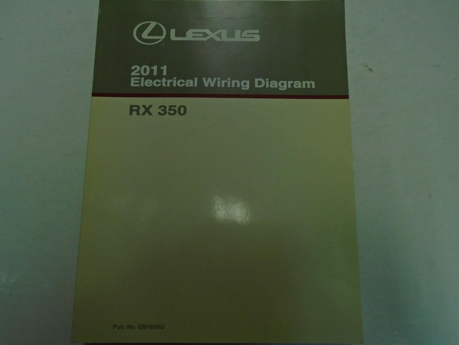 2011 Lexus RX350 Rx 350 Elektrisch Wiring Service Shop Reparatur Manuell Ewd