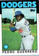 1986 Topps MLB Baseball Trading  Card of: PEDRO GUERRERO #145 - $1.90