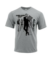 James Bond 007 Dri Fit T-shirt moisture wick retro graphic active wear Sun Shirt image 2