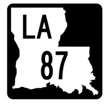 Louisiana State Highway 87 Sticker Decal R5804 Highway Route Sign - $1.45+