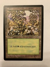 MTG Magic The Gathering Card Forest Land Man's Pool 1996 - $0.98