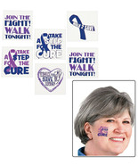 """Relay For Life Purple Awareness Ribbon Temporary Tattoos (72 Pieces) 1.5"""" - $5.69"""