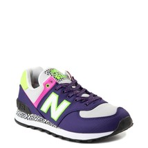 Neuf Femmes New Balance 574 Athlétique Chaussure Violet Fluo Multicolore - $119.98
