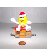 M&M'S Christmas Holiday Train Yellow Peanut in Orange Caboose McDonald's... - $6.99