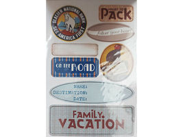 """DCWV """"Travel"""" Chipboard Sticker Stack, 75 Pieces #QS-01 2-00006 image 4"""