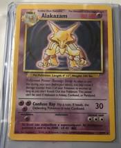 1999 Pokemon Game Holo Holographic Alakazam Psychic Card 1/102 #1 - $49.49