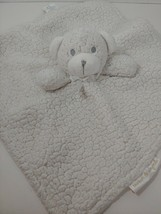 Blankets & beyond Baby Security Blanket cream bear gray silver eyes sher... - $6.92
