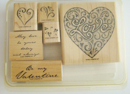 Stampin Up ~ Love Always ~ Wood Mounted Stamps ~ 2001 Retired ~ NEW - $12.56