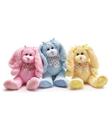 Set of 3 Plush Festive Pastel Colored Bunnies, burton & Burton - $27.99