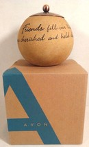 AVON COMFORT CANDLE FRIEND SPHERE NEW IN BOX FRIENDS SCENTED - $7.55