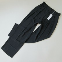 NWT Vince Wide Leg Pleated Trouser in Coastal Blue Satin Pull-on Pants M - $62.00