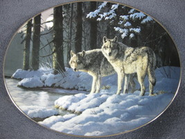 Shades Of Gray Collector Plate Winter Shadows Persis Clayton Weirs Wolves - $21.95