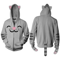 The Big Bang Theory Soft Kitty Zippered Hoodie Ears Paws Tail Size LARGE... - $34.82