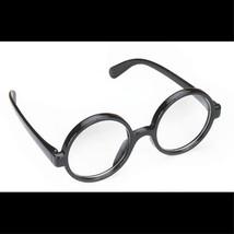 Steampunk-BLACK ROUND OWL GLASSES-Harry Potter School Boy Naughty Girl C... - £5.42 GBP